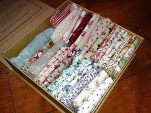 box of fabric